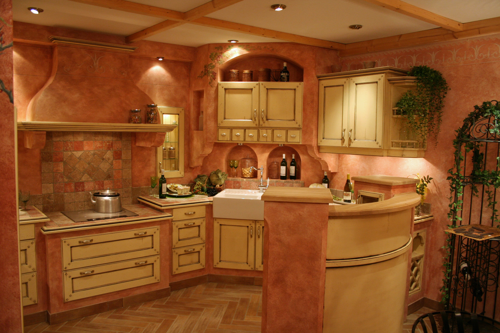 Gemauerte Landhausküchen, Villa Medici Landhausküche Infomaterial  Massivholz | EBay